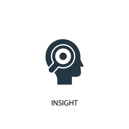 insight icon. Simple element illustration. insight concept symbol design. Can be used for web