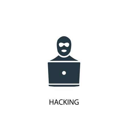 hacking icon. Simple element illustration. hacking concept symbol design. Can be used for web