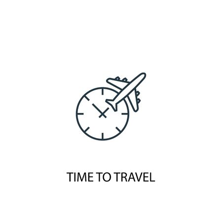 time to travel concept line icon. Simple element illustration. time to travel concept outline symbol design. Can be used for web and mobile