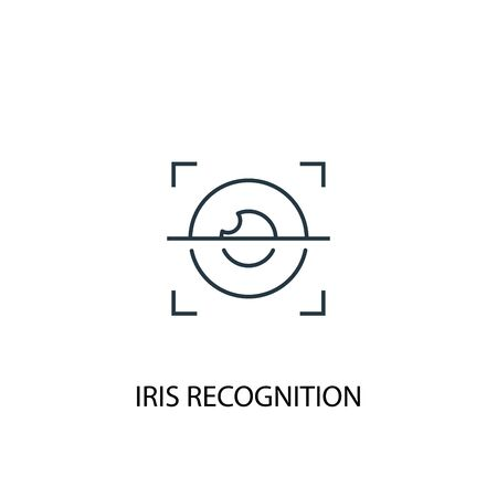 iris recognition concept line icon. Simple element illustration. iris recognition concept outline symbol design. Can be used for web and mobile