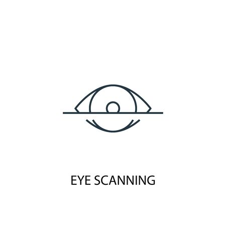 eye scanning concept line icon. Simple element illustration. eye scanning concept outline symbol design. Can be used for web and mobile