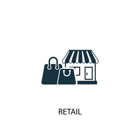 retail icon. Simple element illustration. retail concept symbol design. Can be used for web Ilustração
