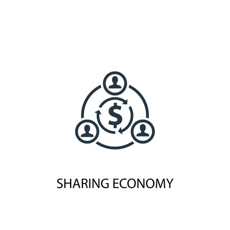 sharing economy icon. Simple element illustration. sharing economy concept symbol design. Can be used for web  イラスト・ベクター素材