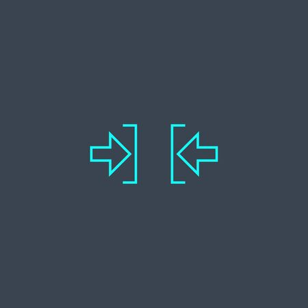 constraint concept blue line icon. Simple thin element on dark background. constraint concept outline symbol design. Can be used for web and mobile