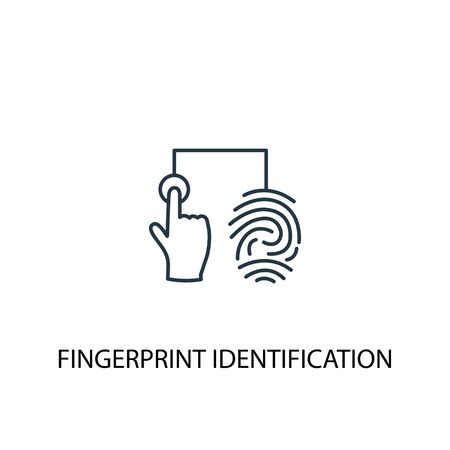 fingerprint identification concept line icon. Simple element illustration. fingerprint identification concept outline symbol design. Can be used for web and mobile