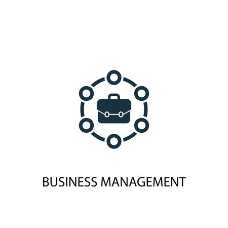 business management icon. Simple element illustration. business management concept symbol design. Can be used for web