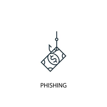 phishing concept line icon. Simple element illustration. phishing concept outline symbol design. Can be used for web and mobile 일러스트