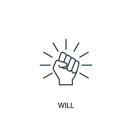 will concept line icon. Simple element illustration. will concept outline symbol design. Can be used for web and mobile