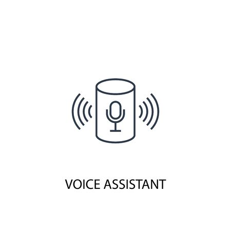 voice assistant concept line icon. Simple element illustration. voice assistant concept outline symbol design. Can be used for web and mobile