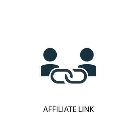 Affiliate Link icon. Simple element illustration. Affiliate Link concept symbol design. Can be used for web