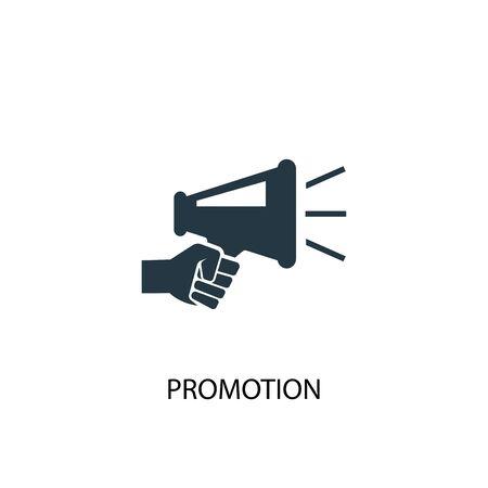Icône promotionnelle. Illustration d'élément simple. Conception de symbole de concept de promotion. Peut être utilisé pour le Web