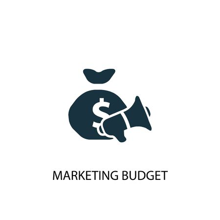 marketing budget icon. Simple element illustration. marketing budget concept symbol design. Can be used for web