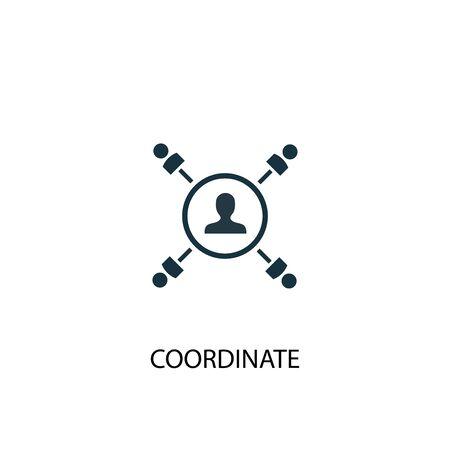 coordinate icon. Simple element illustration. coordinate concept symbol design. Can be used for web Иллюстрация