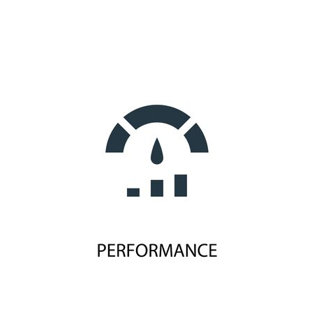 Performance icon. Simple element illustration. Performance concept symbol design. Can be used for web