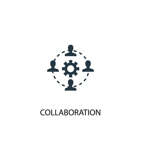 collaboration icon. Simple element illustration. collaboration concept symbol design. Can be used for web
