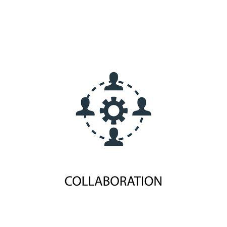 Symbol für die Zusammenarbeit. Einfache Elementabbildung. Zusammenarbeit Konzept Symbol Design. Kann für Web verwendet werden