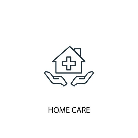 home care concept line icon. Simple element illustration. home care concept outline symbol design. Can be used for web and mobile