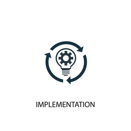 implementation icon. Simple element illustration. implementation concept symbol design. Can be used for web Stock fotó - 130221916