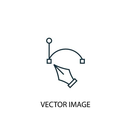 vector image concept line icon. Simple element illustration. vector image concept outline symbol design. Can be used for web and mobile