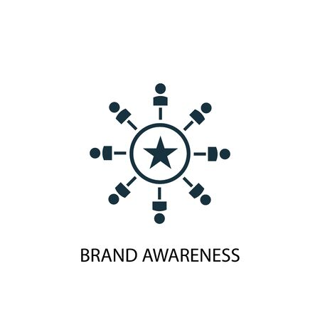 Brand Awareness icon. Simple element illustration. Brand Awareness concept symbol design. Can be used for web