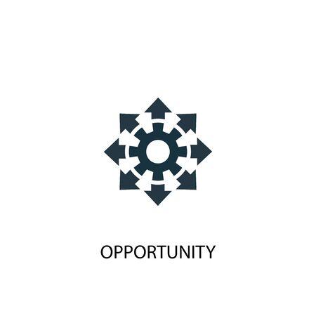 icona di opportunità. Illustrazione semplice dell'elemento. disegno di simbolo del concetto di opportunità. Può essere utilizzato per il web Vettoriali