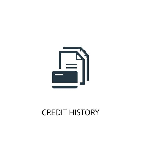 Credit history icon. Simple element illustration. Credit history concept symbol design. Can be used for web Çizim