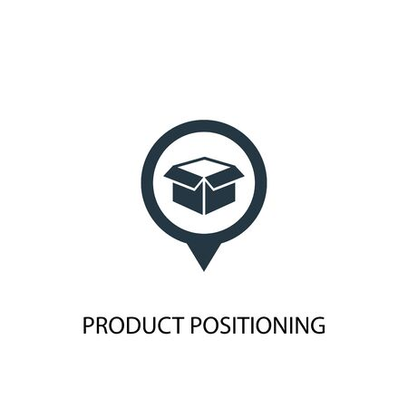 Product Positioning icon. Simple element illustration. Product Positioning concept symbol design. Can be used for web