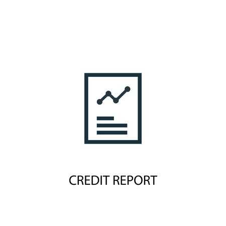 Credit report icon. Simple element illustration. Credit report concept symbol design. Can be used for web