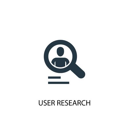 User research icon. Simple element illustration. User research concept symbol design. Can be used for web Illustration