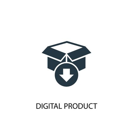digital product icon. Simple element illustration. digital product concept symbol design. Can be used for web Illustration