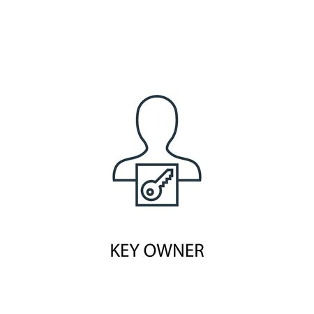 key owner concept line icon. Simple element illustration. key owner concept outline symbol design. Can be used for web and mobile UI