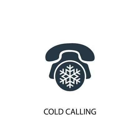 Cold Calling icon. Simple element illustration. Cold Calling concept symbol design. Can be used for web