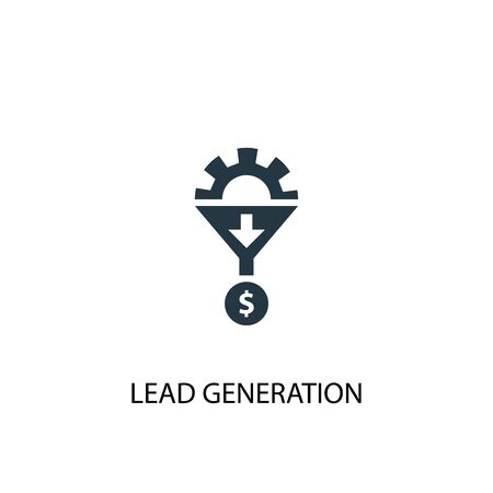 Lead Generation icon. Simple element illustration. Lead Generation concept symbol design. Can be used for web