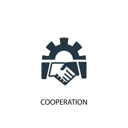 cooperation icon. Simple element illustration. cooperation concept symbol design. Can be used for web