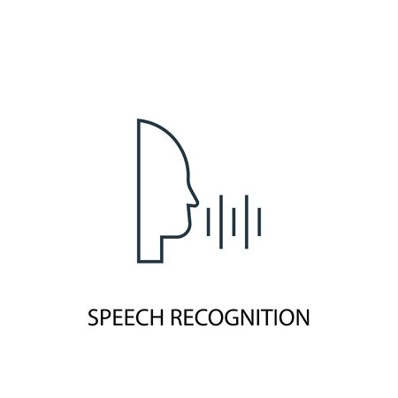 Speech Recognition concept line icon. Simple element illustration. Speech Recognition concept outline symbol design. Can be used for web and mobile
