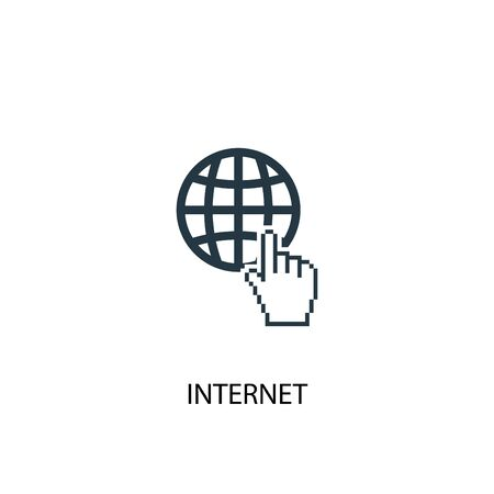 internet icon. Simple element illustration. internet concept symbol design. Can be used for web