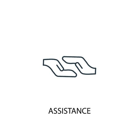 Assistance concept line icon. Simple element illustration. Assistance concept outline symbol design. Can be used for web and mobile