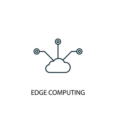 Edge Computing concept line icon. Simple element illustration. Edge Computing concept outline symbol design. Can be used for web and mobile  イラスト・ベクター素材