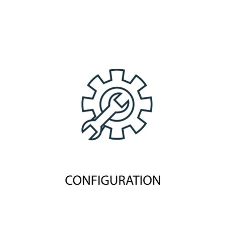 configuration concept line icon. Simple element illustration. configuration concept outline symbol design. Can be used for web and mobile