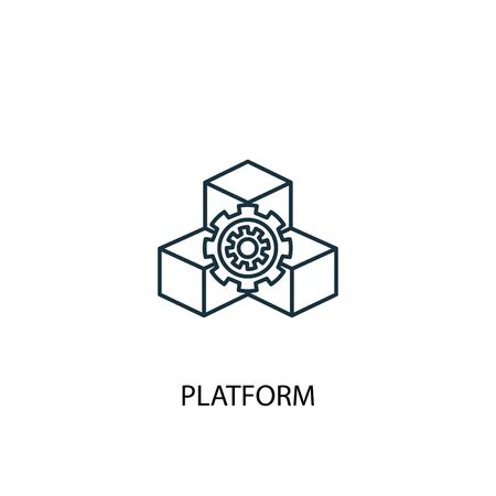 platform concept line icon. Simple element illustration. platform concept outline symbol design. Can be used for web and mobile Illusztráció