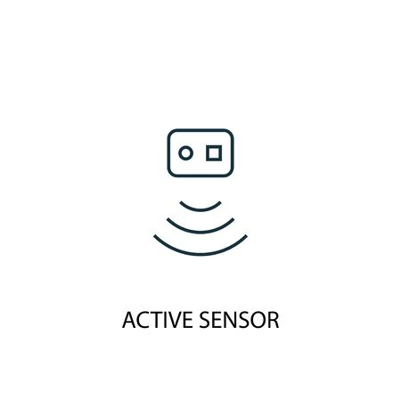Active Sensor concept line icon. Simple element illustration. Active Sensor concept outline symbol design. Can be used for web and mobile 向量圖像