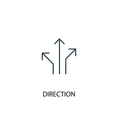 direction concept line icon. Simple element illustration. direction concept outline symbol design. Can be used for web and mobile Illusztráció