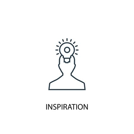 inspiration concept line icon. Simple element illustration. inspiration concept outline symbol design. Can be used for web and mobile