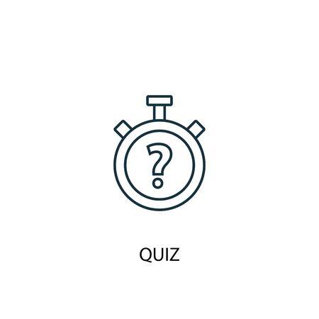 icône de ligne de concept de quiz. Illustration d'élément simple. conception de symbole de contour de concept de quiz. Peut être utilisé pour le Web et le mobile