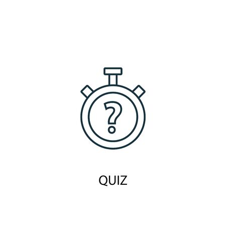 quiz concept line icon. Simple element illustration. quiz concept outline symbol design. Can be used for web and mobile