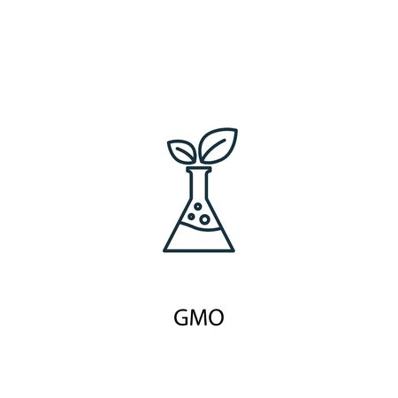 GMO concept line icon. Simple element illustration. GMO concept outline symbol design. Can be used for web and mobile