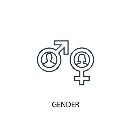 Gender concept line icon. Simple element illustration. Gender concept outline symbol design. Can be used for web and mobile