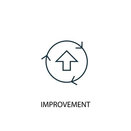improvement concept line icon. Simple element illustration. improvement concept outline symbol design. Can be used for web and mobile 向量圖像