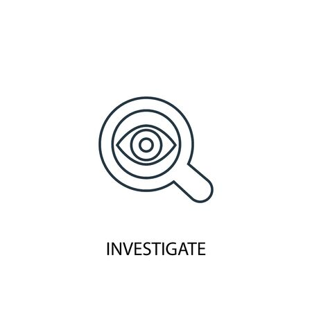investigate concept line icon. Simple element illustration. investigate concept outline symbol design. Can be used for web and mobile