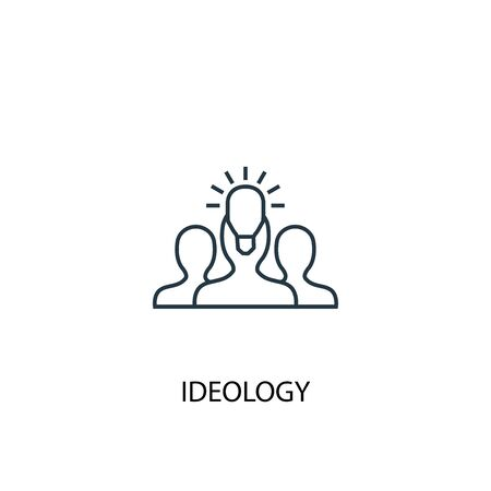 ideology concept line icon. Simple element illustration. ideology concept outline symbol design. Can be used for web and mobile